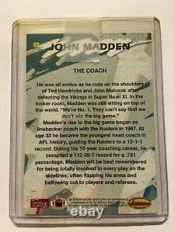 John Madden Signed 1994 Ted Williams Company Card NFL Football HOF TOUGH AUTO