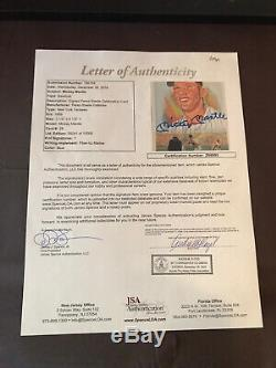 MICKEY MANTLE/JOE DiMAGGIO/TED WILLIAMS AUTO SIGNED PEREZ STEELE 3 JSA LOAS