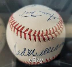 MINT 500 Home Run Club Signed Baseball Mickey Mantle Ted Williams PSA DNA 9