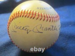 Mickey Mantle, Joe DiMaggio & Ted Williams Autographed MLB Baseball PSA Letter