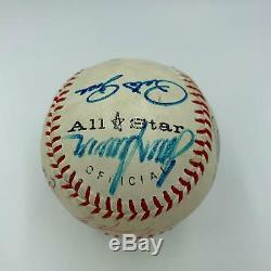 Mickey Mantle Joe Dimaggio Ted Williams Aaron Tom Seaver Signed Baseball JSA COA