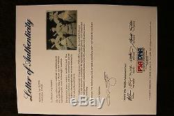 Mickey Mantle Joe Dimaggio Ted Williams Signed 8X10 Photo PSA E30726 Grade 9 10
