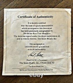 Mickey Mantle Ted Williams 500 Home Run Club Signed Baseball 11 Sigs COA