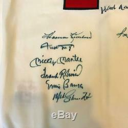 Mickey Mantle Ted Williams 500 Home Run Club Signed Jersey (11 Sigs) JSA COA