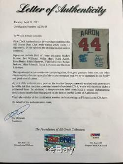 Mickey Mantle Ted Williams 500 Home Run Club Signed Jersey (11 Sigs) PSA DNA COA
