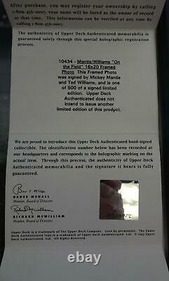 Mickey Mantle/Ted Williams Autographed/Framed 16x20 Photo #/500 UDA UDZ24072