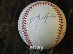 Mickey Mantle Ted Williams Frank Robinson, Yaz Triple Crown Signed Baseball PSA