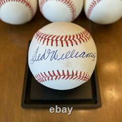 Mickey Mantle Ted Williams Hank Aaron Willie Mays (11) Autographed Baseball Lot