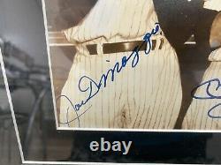 Mickey Mantle Ted Williams Joe DiMaggio Signed 8x10 Autograph Steiner Auto HOF