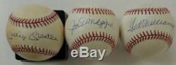 Mickey Mantle Ted Williams Joe Dimaggio Signed Baseball's COA