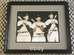 Mickey Mantle, Ted Williams, Joe Dimaggio signed Picture With COA