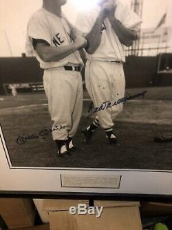 Mickey Mantle Ted Williams Signed 16x20 Photo UDA Upper Deck Certification