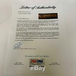 Mickey Mantle Ted Williams Willie Mays 500 Home Run Club Signed Bat 11 Sigs PSA