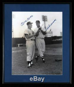 Mickey Mantle and Ted Williams Dual Signed 16x20 Brearley Photo, Framed. JSA