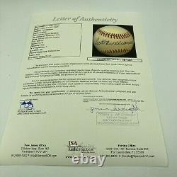 Mint Ted Williams Signed Autographed American League Baseball With JSA COA