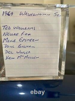 Nellie Fox And Ted Williams Autographed 1969 Senators Team Signed Reach Baseball