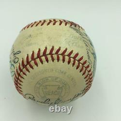 Nice 1952 Boston Red Sox Team Signed Baseball Ted Williams 26 Sigs With JSA COA