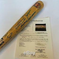 Nice Hall Of Fame Multi Signed Bat 18 Sigs Ted WIlliams Tom Seaver With JSA COA