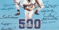 Nice Mickey Mantle Ted Williams 500 Home Run Club Signed Large Photo 11 Sigs JSA