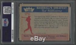 PSA 6 1959 Fleer Ted Williams #68 SP Ted Signs for 1959 Boston Red Sox HOF