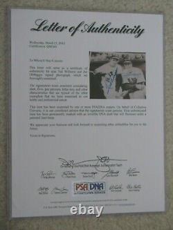 PSA DNA Joe DiMaggio Ted Williams Dual Signed Photo Auto HOF 14x17 Framed LOA