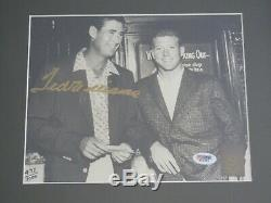 PSA DNA TED WILLIAMS SIGNED 8x10 PHOTO FRAMED WITH MANTLE 2 COA AUTOGRAPH HOF