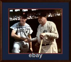 Rare Ted Williams Signed & Inscribed 20x24 Photo, Babe Ruth. LE of 43. PSA