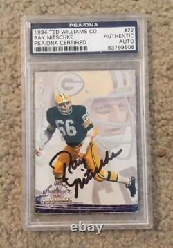 Ray Nitschke Signed Ted Williams Card Company PSA/DNA