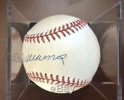 Real or Replica Signed Ted Williams OMLB Ball (Bobby Brown, 1994-99), Red Sox
