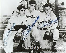 Red Sox Yankees Dom Joe DiMaggio Ted Williams Signed 8x10 Photo Auto JSA LOA
