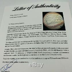 Roger Maris Mickey Mantle Ted Williams Willie Mays HOF Multi Signed Baseball PSA