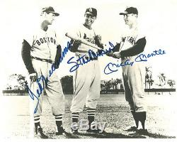 (SSG) TED WILLIAMS, STAN MUSIAL, MICKEY MANTLE Signed Photo JSA Full Letter COA