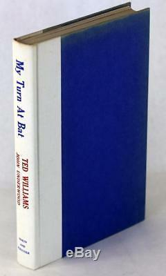 Signed Ted Williams 1969 My Turn at Bat Story of My Life Hardcover withDustjacket
