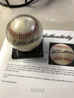 Stan Musial and Ted Williams Signed Baseball