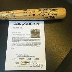 Stunning Mickey Mantle Ted Williams Carl Yastrzemski Triple Crown Signed Bat PSA