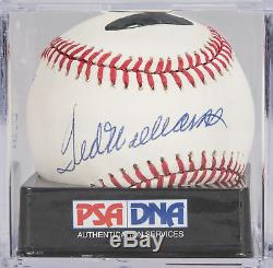 Stunning Ted Williams Single Signed AL Baseball PSA DNA Graded MINT 9