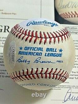 TED WILLIAMS 2 SIGNED AUTOGRAPHED OAL BASEBALL! Red Sox! FULL JSA! GRADED 7
