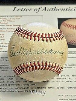 TED WILLIAMS 6 SIGNED AUTOGRAPHED OAL BASEBALL! Red Sox! FULL JSA