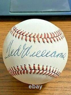 TED WILLIAMS 6 SIGNED AUTOGRAPHED OAL BASEBALL! Red Sox! HOF! PSA