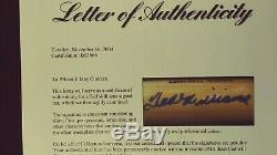 TED WILLIAMS AUTOGRAPHED BAT PSA LOA Louisville Slugger Claudia Williams Trust