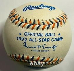 TED WILLIAMS Red Sox Autographed Signed 1992 MLB All Star Game Baseball CBG COA