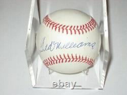 TED WILLIAMS (Red Sox) Signed Official AMERICAN LEAGUE Baseball with UDA COA
