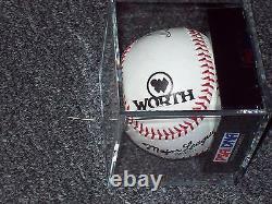 TED WILLIAMS SINGLE SIGNED 1960'S WORTH Baseball PSA 9 8 8.5