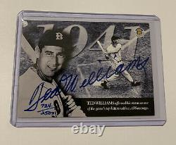 TED WILLIAMS Signed 1994 Upper Deck Card UDA CERTIFIED AUTO /2500 BOLD AUTOGRAPH