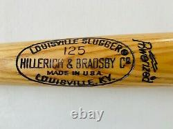 TED WILLIAMS Signed 35 Louisville Slugger H&B 125 W215 Game Model Bat JSA