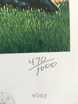 TED WILLIAMS Signed Print The Splendid Splinter JSA COA LOA #470/1000