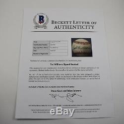 TED WILLIAMS signed BASEBALL auto BAS LOA autograph Red Sox mlb HOF