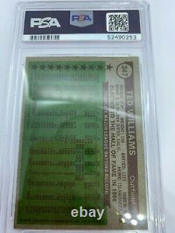 Ted Williams Authentic Autographed Card 1976 All Time All Star PSA. Topps 347