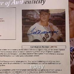 Ted Williams Auto Autograph Signed 8x10 Photo Picture Boston Red Sox Hof Jsa