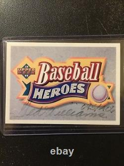Ted Williams Autograph Auto Baseball Heroes Card #095/406 Upper Deck Nice